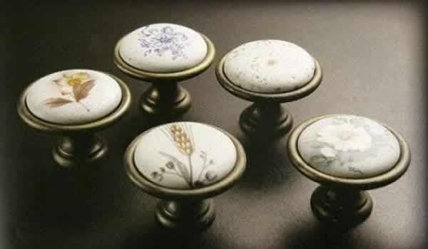 Pomos de ceramica pintados a mano - Tiradores para muebles de bano ...