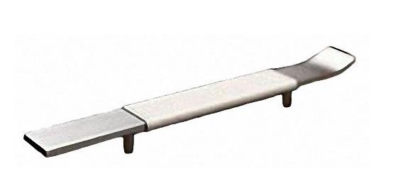manillon corba mod 4830 aluminio satinado piel
