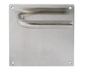manivela con placa cuadrada de acero