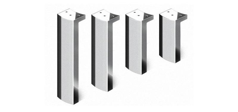 Pata para mueble de diferentes alturas cromo brillo