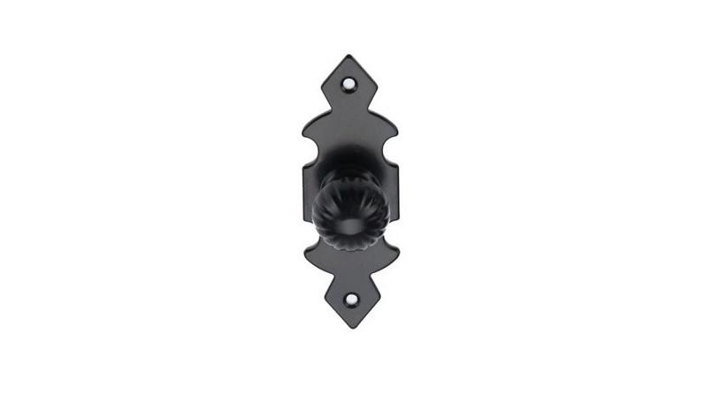 Tirador de forja con acabado negro